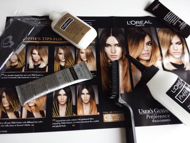 L'Oreal Preference Wild Ombres Dip Dye Hair Kit No. 1